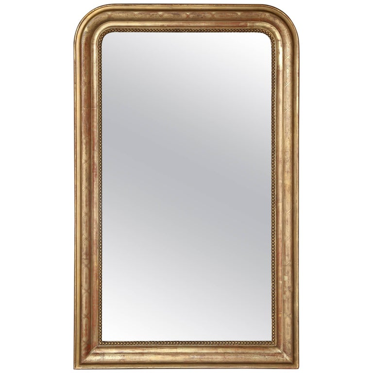 19th Century Louis Philippe Gilt Mirror For Sale