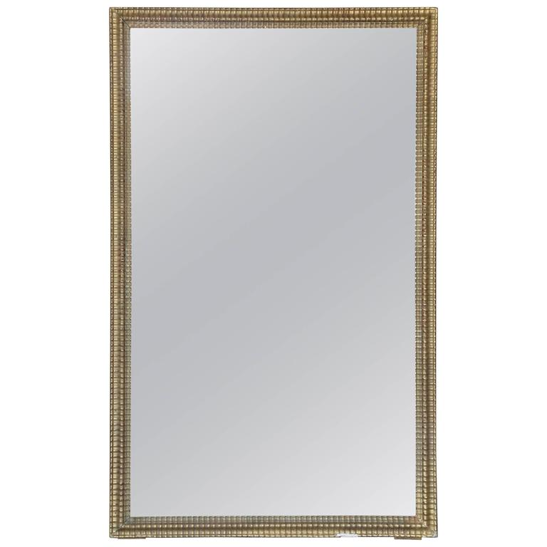 19th Century Rectangular Gilt Mirror