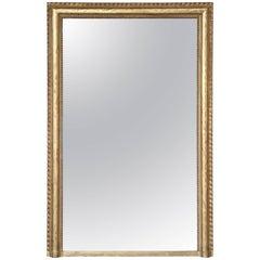 Large 19th Century Gilt Rectangular Mirror