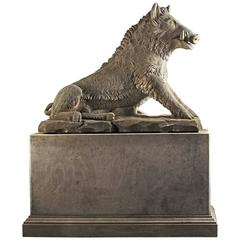 Sculpted Limestone Model of the Calydonian Wild Boar, After the Antique