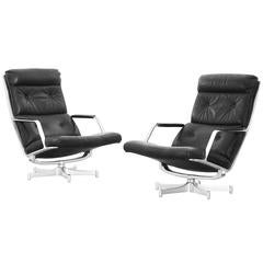 Pair of Lounge Chairs with Ottoman by Fabricius & Kastholm Kill International