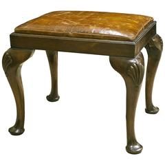 Mahogany and Leather Stool