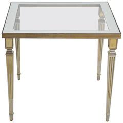 20th Century Silver Plated Table in the Style of Maison Jansen