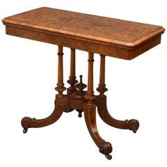 Victorian Games Table or Walnut Card Table