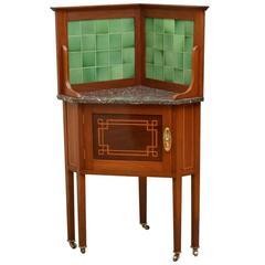 Edwardian Corner Cabinet Corner Washstand
