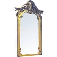 Monumental Ornately Carved Italian Mirror