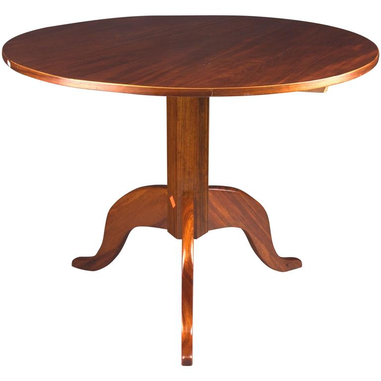 Plain Round Biedermeier Folding Table, circa 1820
