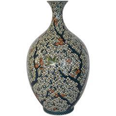 Large Japanese Contemporary Arita Porcelain Vase by Sho-un, Master Artist