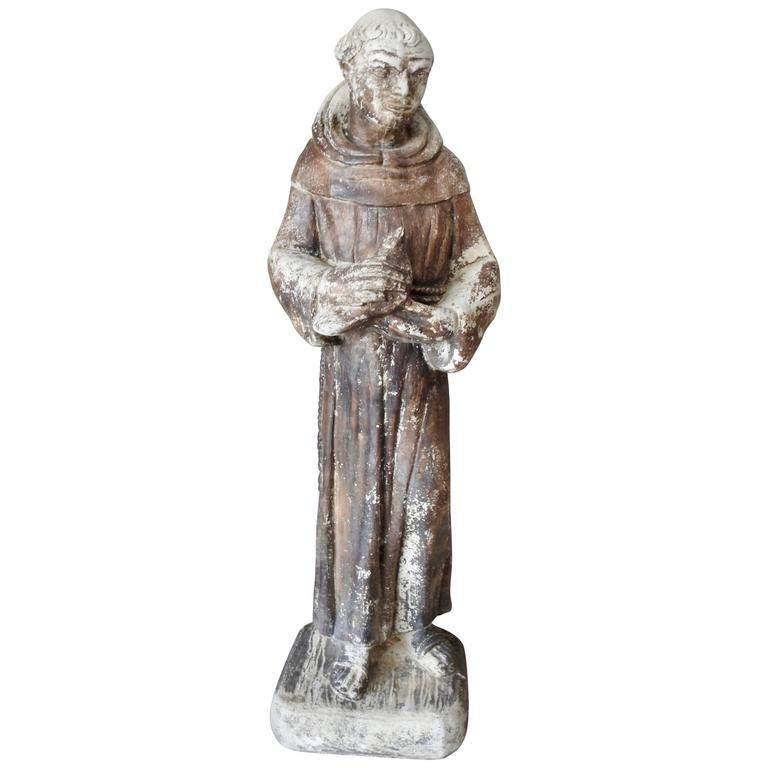 Early 19th Century St Francis of Assisi Garden Statue