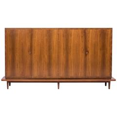 Large Architectural Danish Sideboard in Rosewood