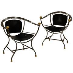 Pair of Armchairs 1970s Italian Designer Alberto Orlandi