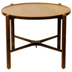 Circular Teak Coffee Table by Hans Wegner