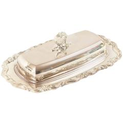 Charming Silver Plated Butter Dish, Vintage