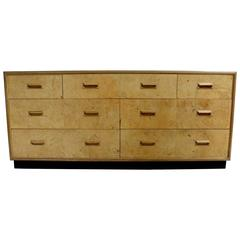 1970s Henredon Scene Two Burl Olive Seven Drawer Dresser or Credenza