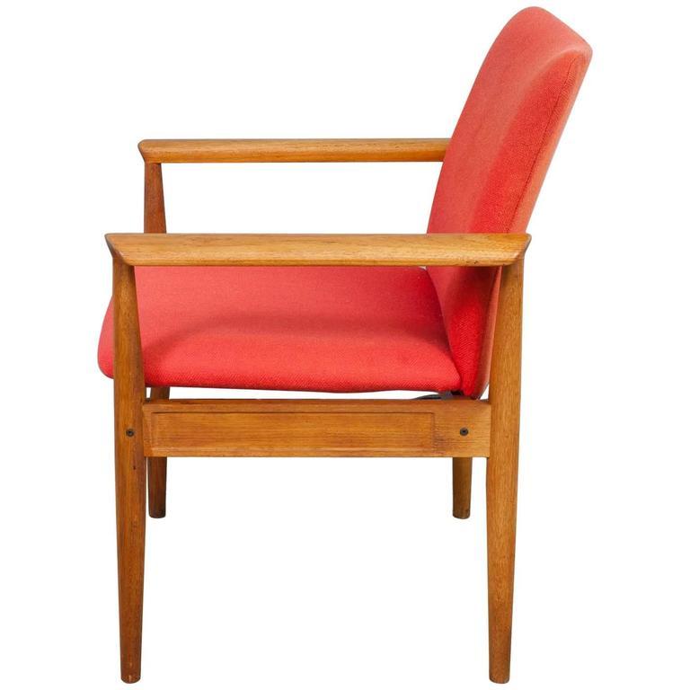 1960s Danish Teak 'Diplomat' Chair by Finn Juhl for France & Son