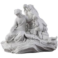 "Rare 19th Century Biscuit Group ""La Pêche"" After a Model by Falconet"
