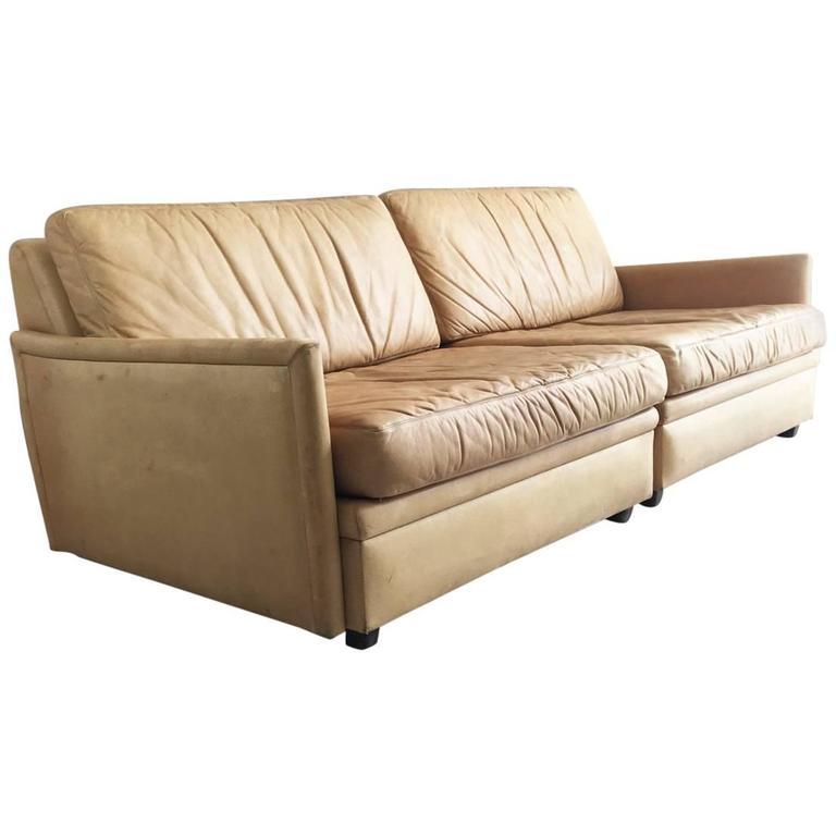 1970s DUX Mid-Century Modular Two-Part Sofa With Original
