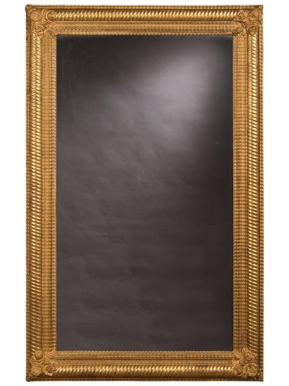 Antique French Gold Leaf Framed Mirror, circa 1895
