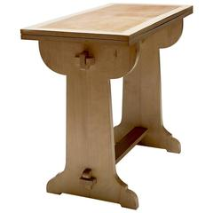French Arts and Crafts Console Side Table Conversion Games Table in Maple