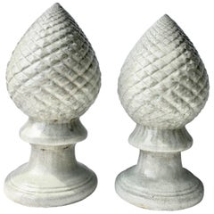 21st Century Contemporary Ceramic Glaze Cone Finial Sculptures