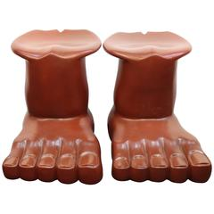 Pair of Pedro Friedeberg Foot Stools