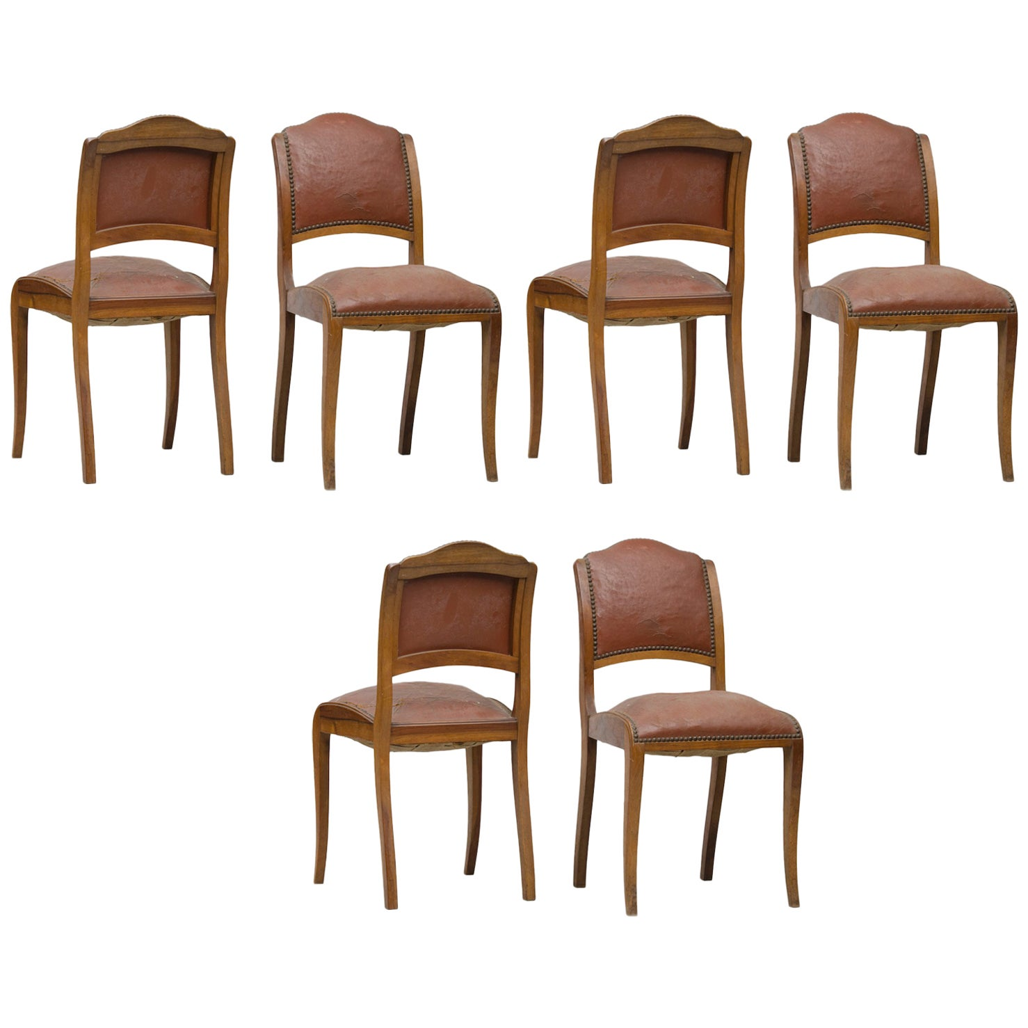 Art Deco Dining Chairs Set of Six