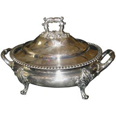 19th century Sheffield Silver Regency Style Tureen Walker, Knowles and Company