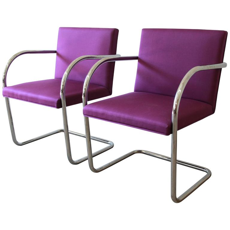 Pair of Mies Van Der Rohe Brno Chairs for Knoll International