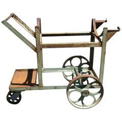 Vintage Industrial Cart Bar Cart