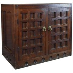 19th Century Arts & Crafts / Medieval Style Oak Cabinet