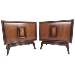Stylish Pair of Mid-Century Modern Nightstands