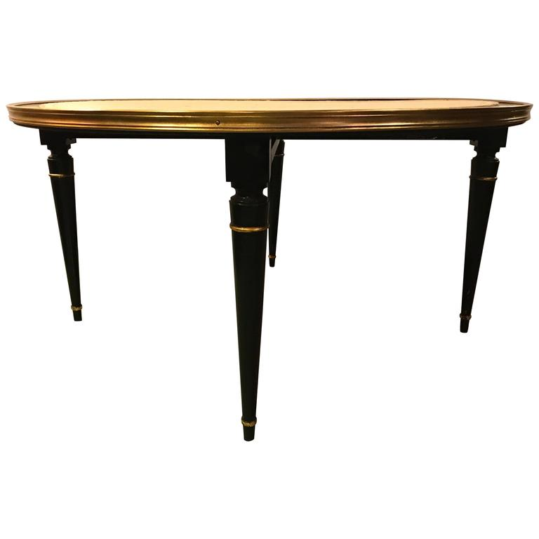 Ebonized Hollywood Regency Coffee Cocktail Or Low Table