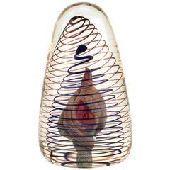 Spiral Art Glass Object