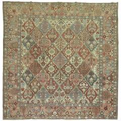 Square Persian Bakhtiari Rug