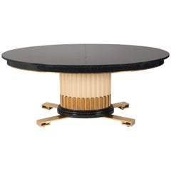 Art Deco Inspired Oval Dining Table by Renzo Rutili