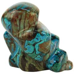 Azurite Abstract Carving