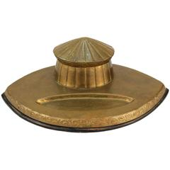 Arts & Crafts Movement Brass Inkwell