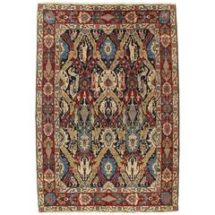 Antique Tabriz Carpet, Dragon Design, Handmade Oriental Rug Red, Blue, Gold
