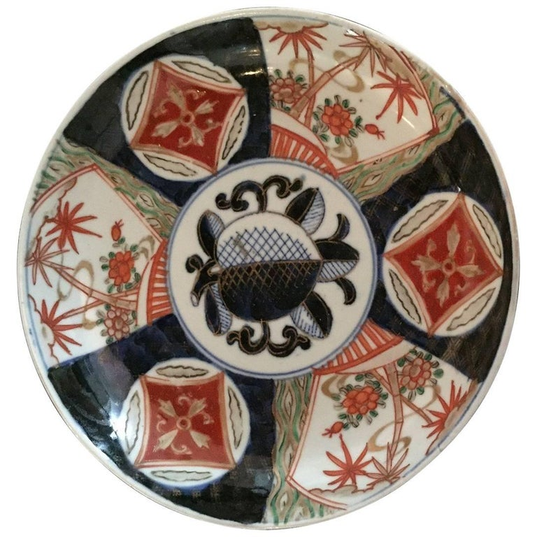 Early 20th Century Imari Plate For Sale