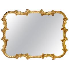 Antique Georgian Style Gold Mantel Mirror
