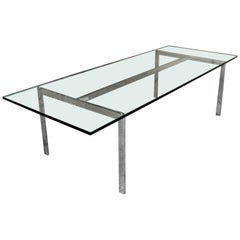 Danish Chrome Coffee Table for Georg Petersens