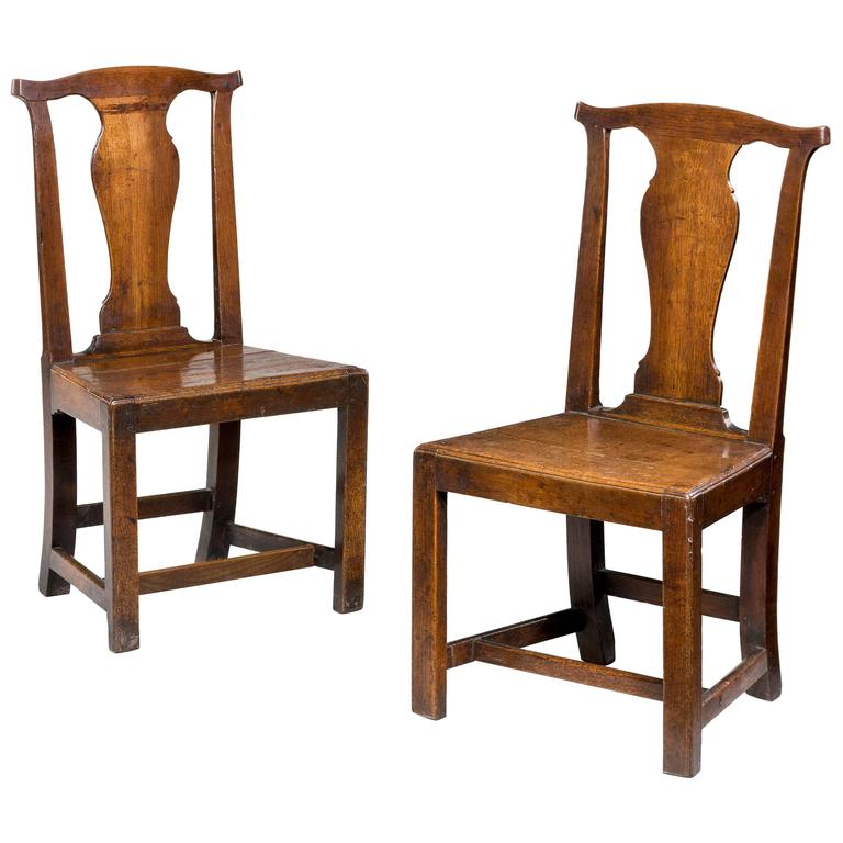 Pair of side chairs, 1760, offered by Windsor House Antiques Ltd