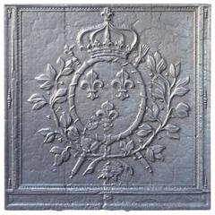 18th Century French 'Arms of France' Fireback