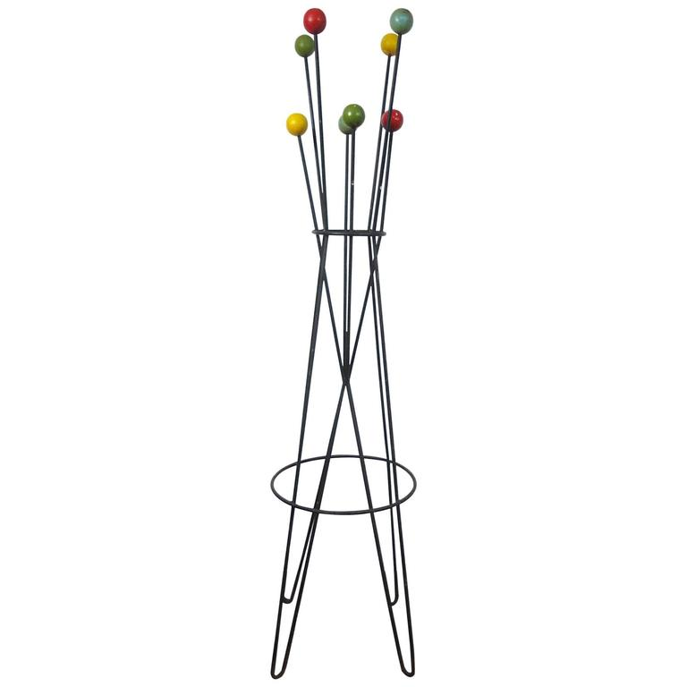 French Architectural Coat Rack Stand By Roger Feraud MidCentury Delectable Coat Rack Stands