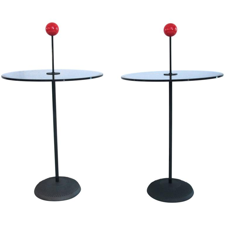 Pierluigi Cerri for Fontana Arte, Small Table, Glass, Metal and Iron, circa 1980