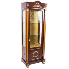 French Empire Style Mahogany Display Cabinet