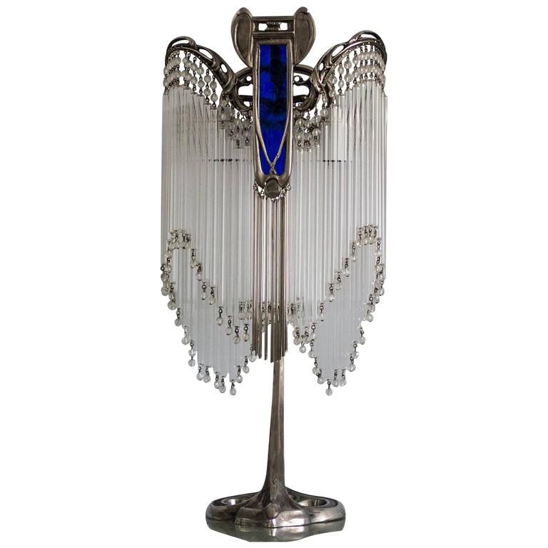 Art Nouveau Table Lamp in the Style of Hector Guimard