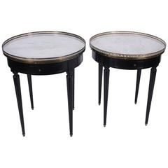 Pair of Bouillotte Tables, French, Mid-20th Century