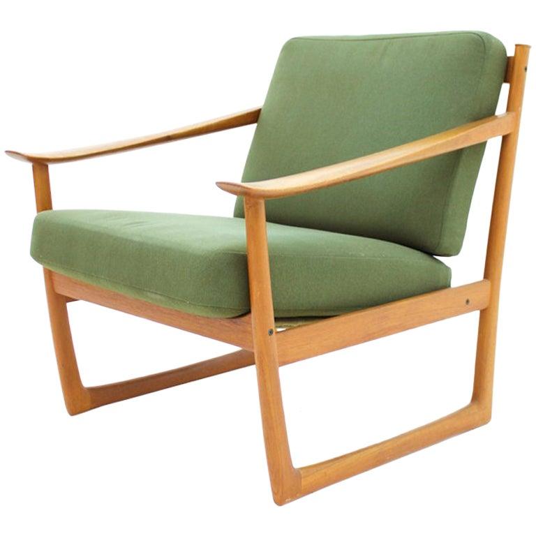 Peter Hvidt & Orla Molgaard Nielsen Teak Lounge Chair, Denmark 1961