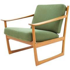 Peter Hvidt & Orla Molgaard Nielsen Teal Lounge Chair, Denmark 1961